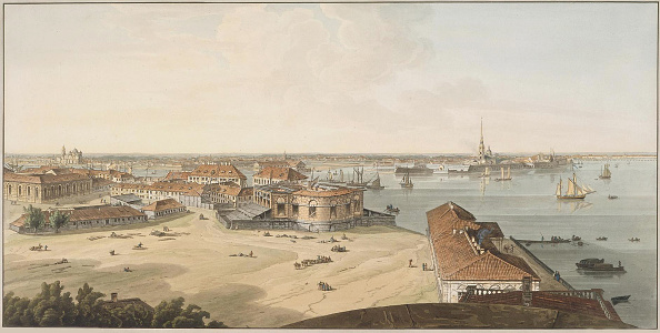 Embankment「View to the Spit of Vasilyevsky Island and Peter and Paul Fortress, Between 1802 and 1805」:写真・画像(17)[壁紙.com]