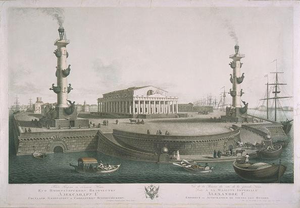 Embankment「View to the Spit of Vasilyevsky Island, 1810s」:写真・画像(18)[壁紙.com]