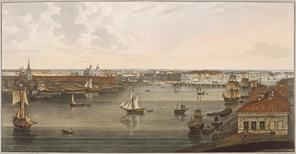 Neva River「View to the Admiralty, old St Isaac's Cathedral, English embankment and Academy of Sciences from Vas」:写真・画像(3)[壁紙.com]