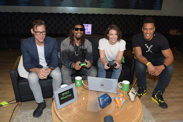 Four People「Chris Evans, Lauren Cohan and Lil Jon Host Celebrity Gaming Event and Xbox Live Session in Atlanta」:写真・画像(16)[壁紙.com]