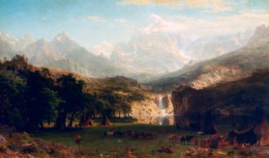 19th Century「'The Rocky Mountains' by Albert Bierstadt」:スマホ壁紙(7)