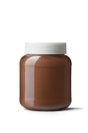 Spreading「Breakfast Ingredients: Spread Hazelnut Isolated on White Background」:スマホ壁紙(19)