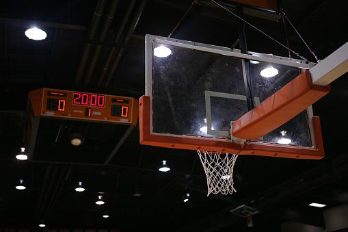 Acrylic Glass「A basketball hoop and a scoreboard above that 」:スマホ壁紙(18)