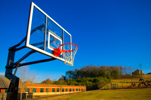 Taking a Shot - Sport「Basketball Goal at a Basketball Court at Park」:スマホ壁紙(0)