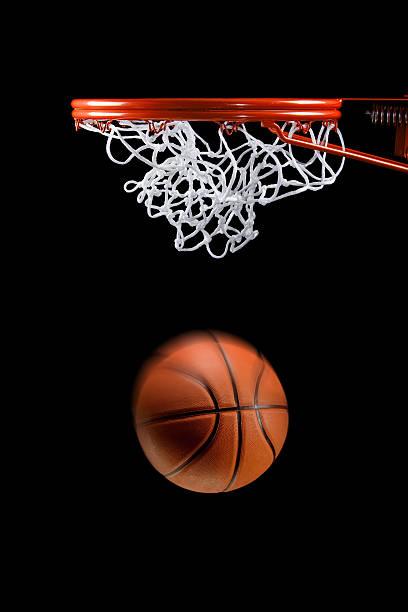 Basketball hoop net and ball side view:スマホ壁紙(壁紙.com)