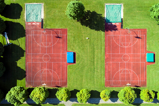 Goal Post「Basketball and Handball Fields from Above」:スマホ壁紙(13)