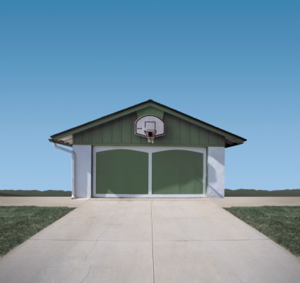 Digital Composite「Basketball hoop above garage door (Digital Composite)」:スマホ壁紙(9)