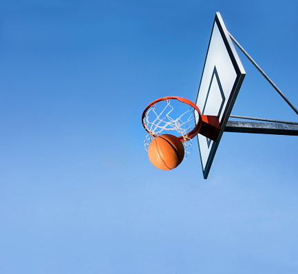 Throwing「Basketball going through hoop」:スマホ壁紙(5)