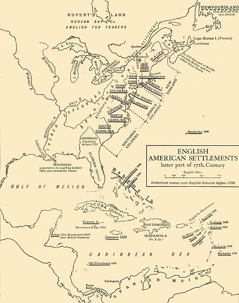 North America「English American Settlements - Latter Part Of 17Th Century」:写真・画像(7)[壁紙.com]