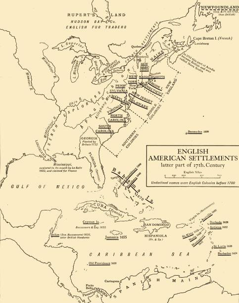 English American Settlements - Latter Part Of 17Th Century:ニュース(壁紙.com)