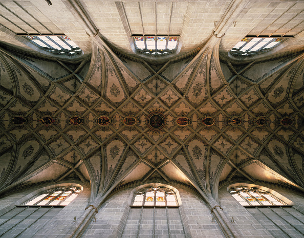 Ceiling「Cross shaped vaults inside the cathedral of Munster - city of Berne - Switzerland」:写真・画像(10)[壁紙.com]