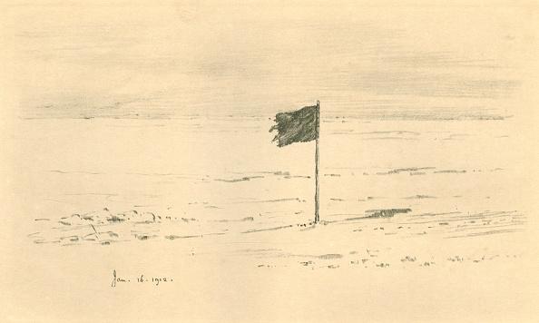 Ski Pole「Black Flag Camp - Amundsens Black Flag Within A Few Miles Of The South Pole 1」:写真・画像(15)[壁紙.com]
