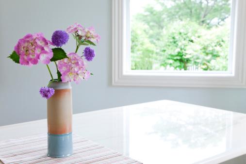 あじさい「Bunch of Flowers in Vase」:スマホ壁紙(7)