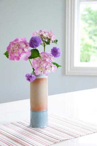 あじさい「Bunch of Flowers in Vase」:スマホ壁紙(17)