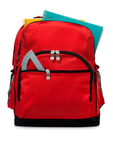 Stationary「Backpack Isolated on a White Background」:スマホ壁紙(13)