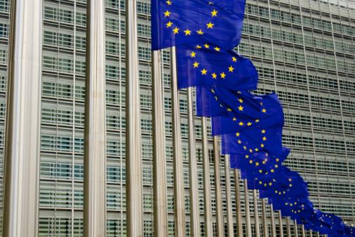 Belgium「EU flags in Brussels against building」:スマホ壁紙(0)