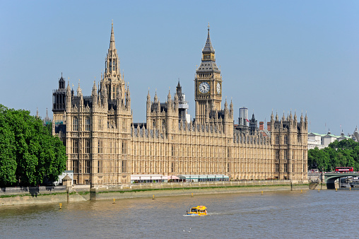 世界遺産「UK, London, Palace of Westminster at the River Thames」:スマホ壁紙(6)