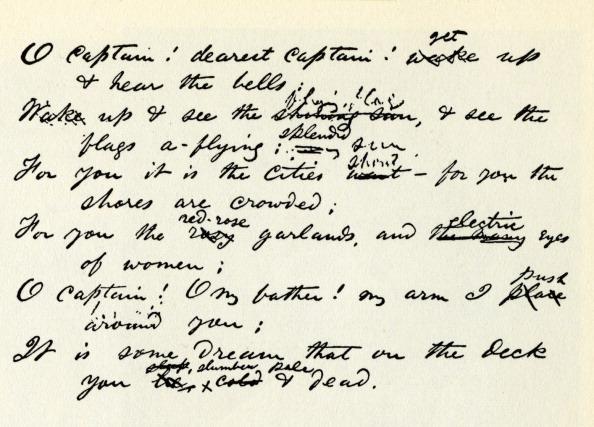 Poetry- Literature「'O Captain! My Captain' handwritten lines」:写真・画像(12)[壁紙.com]