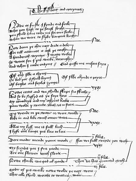 Circa 14th Century「Handwritten excerpt from a York Mystery Play / York Corpus Christi Play」:写真・画像(17)[壁紙.com]