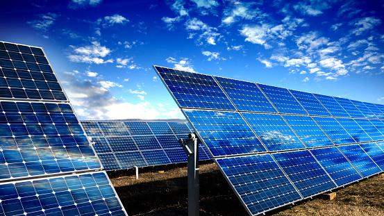 ������「Blue solar panels」:スマホ壁紙(10)