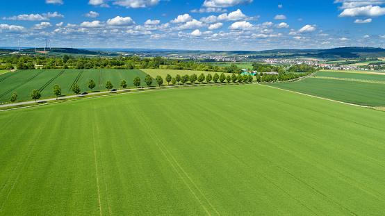 Alley「Panoramic aerial view of German landscape - Rheingau-Taunus area」:スマホ壁紙(8)