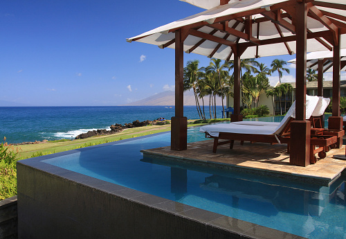 Kihei「Maui Hawaii resort hotel infinity pool, Pacific ocean scenic」:スマホ壁紙(15)