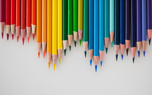 Colored Pencil「Row of colorful pencils」:スマホ壁紙(3)