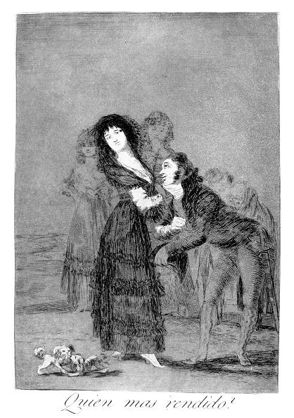 動物「'Which of them is more overcome?', 1799. Artist: Francisco Goya」:写真・画像(2)[壁紙.com]