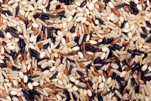 Long Grain Rice「Mixture of wild rice for a food background」:スマホ壁紙(1)