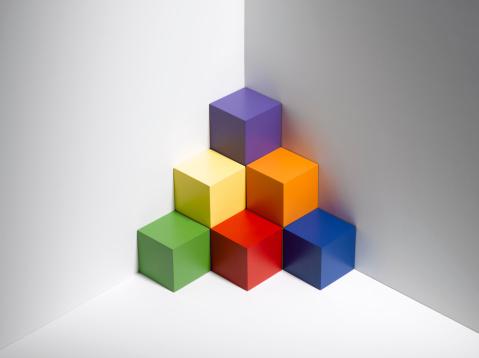 Pyramid Shape「Blocks In Corner」:スマホ壁紙(2)