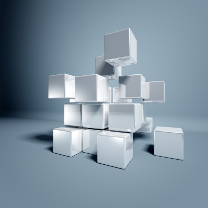 Digitally Generated Image「Blank 3d Cubes」:スマホ壁紙(2)