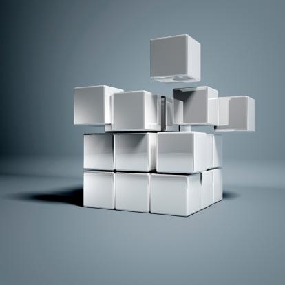 文字「ブランク 3 D キューブ」:スマホ壁紙(7)