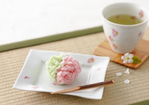 Wagashi「Japanese cake and green tea」:スマホ壁紙(4)