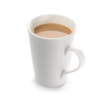Tea Cup「Mug of English breakfast tea on a white background」:スマホ壁紙(13)