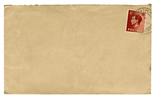 King - Royal Person「British Edward VIII stamped brown envelope, 1937」:スマホ壁紙(12)
