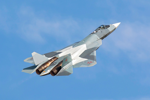 Russian Military「The Sukhoi T-50 future Russian Air Force 5th generation fighter plane.」:スマホ壁紙(16)