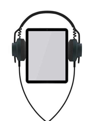 Emitting「Listening Music with Tablet PC」:スマホ壁紙(9)