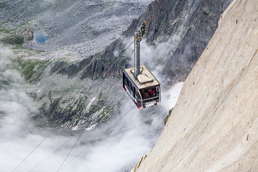 Aerial tramway「Cable car on mountainside」:スマホ壁紙(14)