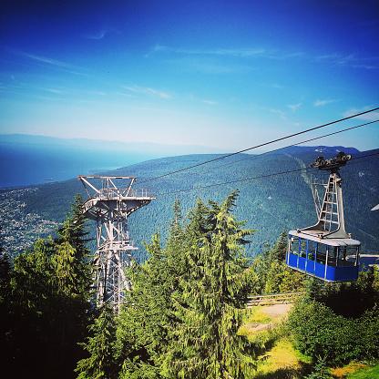 Aerial tramway「ケーブルカーで山のサイド。」:スマホ壁紙(7)