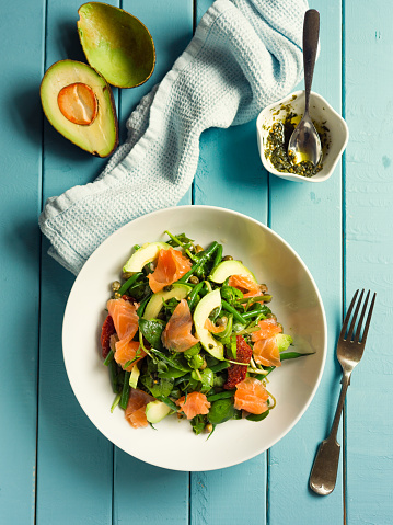 Arugula「Healthy summer salad with smoke salmon」:スマホ壁紙(8)