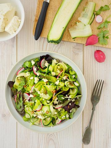 Vinaigrette Dressing「Healthy Summer courgette salad」:スマホ壁紙(11)