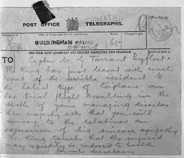 Letter - Document「Tarrant Tabor Crash Telegram From King」:写真・画像(15)[壁紙.com]