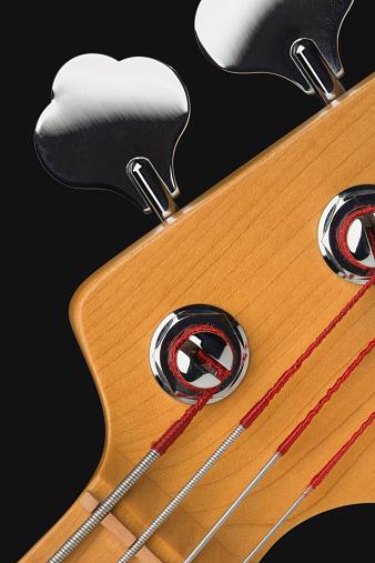 Bass Instrument「Close-up tuning pegs of bass guitar」:スマホ壁紙(8)