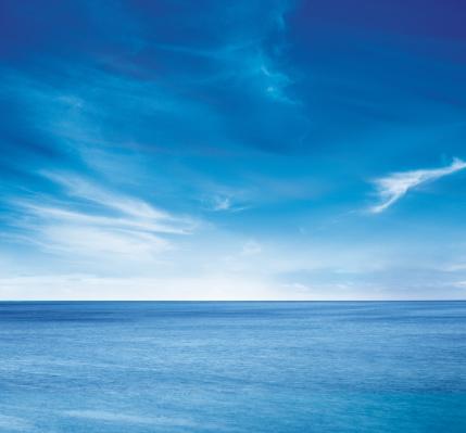 Blue「Ocean skyline 1」:スマホ壁紙(4)