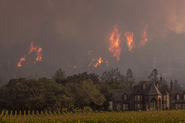 カリフォルニア州「Multiple Wildfires Continue To Ravage Through California Wine Country」:写真・画像(3)[壁紙.com]