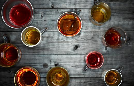 Ice Tea「Tea glasses with different sorts of tea」:スマホ壁紙(10)