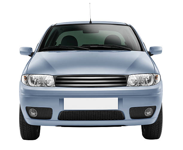 Blue car front-side (isolated with clipping path over white background):スマホ壁紙(壁紙.com)