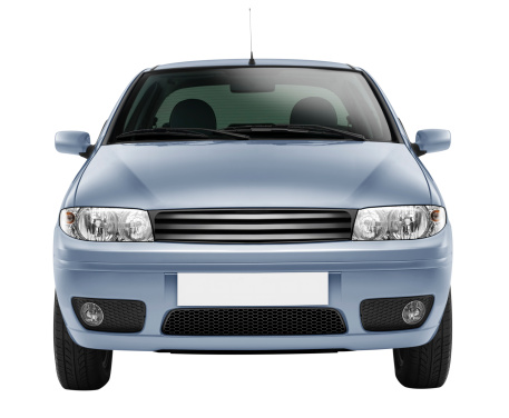 Mode of Transport「Blue car front-side (isolated with clipping path over white background)」:スマホ壁紙(8)