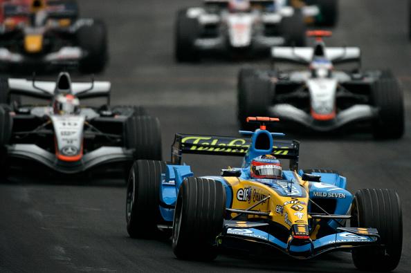 Kimi Räikkönen「Fernando Alonso, Juan Pablo Montoya, Kimi Raikkonen, Grand Prix Of Brazil」:写真・画像(9)[壁紙.com]