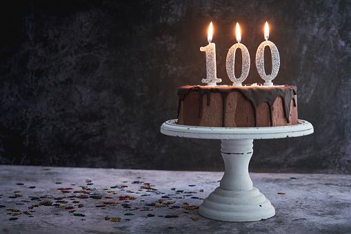 Number 100「100th Birthday Cake」:スマホ壁紙(0)